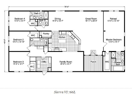 floor plans with great rooms 10 great manufactured home floor plans