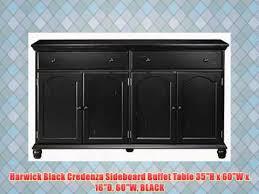 harwick black credenza sideboard buffet table 35h x 60w x 16d 60w