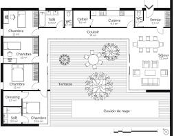 maison avec 4 chambres plan maison en u 4 chambres