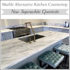 Countertop Options For Kitchen by Kitchen Countertops Marble And Look Alike Alternatives U2014 Classy