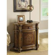 Bookshelves Overstock Bombay Light Brown Engraved 1 Drawer Cabinet Free Shipping Today