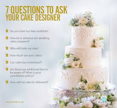 7 crucial questions to ask your wedding cake designer