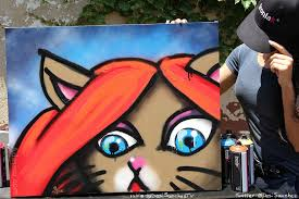 Spray Paint Artist - artist adesina sanchez tries spray paint art