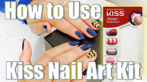 how to use kiss nail art kit youtube