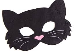 kids cat mask black cat costume felt mask kids face mask