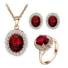 red crystal necklace set images Yoursfs kate middleton jewelry set red crystal jpg