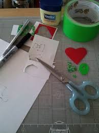 make your own duct tape letters and shapes