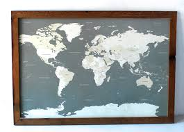 Etsy World Map by Maps Update 750542 Track My Travels Map U2013 The Best Push Pin