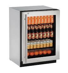 Stainless Steel Mini Fridge With Glass Door by 2224rgl 24 U201d Glass Door Refrigerator 2224rgl 2000 Series