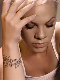 pink tattoos pictures images pics photos of her tattoos