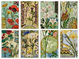 pattern art pdf set of 8 art nouveau floral cross stitch patterns pdf carnation