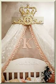 Crown Bed Canopy with Champagne And Gold Fleur De Lis Bed Crown Teester Many Color