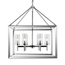 Wide Chandelier Golden Lighting Smyth Chrome Six Light Chandelier With Clear Glass
