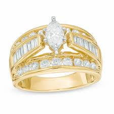 zales wedding rings for 2 ct t w marquise engagement ring in 14k gold