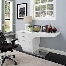 White Office Desk by Amazon Com Modway Warp Office Desk In White Kitchen U0026 Dining