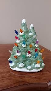 mini lights for christmas village plaster village tree i found the mini lights at a christmas store