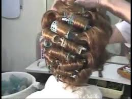 brunette roller set 1960s hair style youtube