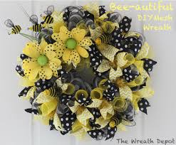 ribbon wreaths diy mesh wreath bee autiful ribbon wreath the wreath depot