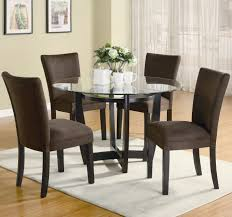 dining room best compositions small round glass dining table and