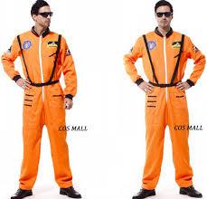 astronaut orange men u0027s costume halloween space moon jumpsuit