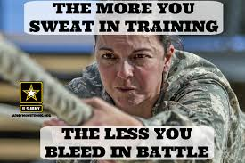 Training Meme - the more you sweat in training meme army mom strong
