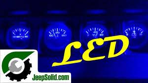 jeep wrangler dashboard lights led dash lights jeep wrangler led dash light upgrade youtube