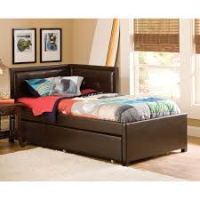 Daybeds With Trundles Hillsdale Frankfort Upholstered Corner Daybed Brown Twin