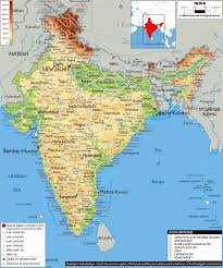 Asia Physical Map by Maps Of India Detailed Map Of India In English Tourist Map Of
