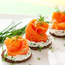 smoked salmon canapés with cheese recipe canapé recipe ideas