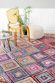 Multi Colored Shag Rug Jenise Squares Rug Multi By Nuloom On Hautelook Furniture