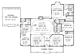 southern style house plan 3 beds 2 50 baths 2282 sq ft plan 456 13