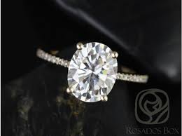 yellow gold oval engagement rings rosados box 10x8mm 14kt yellow gold oval f1 moissanite and