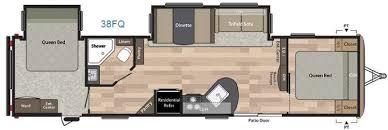 Rv 2 Bedroom Floor Plans New 2018 Keystone Rv Springdale 38fq Travel Trailer At Shaw Rv