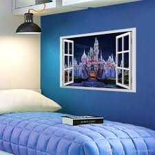 fantasy princess prince castle 3d window view wall sticker decal fantasy princess prince castle 3d window view wall sticker decal mural vinyl art stickers kid wall stickers kids bedroom wall stickers from gonglangdianzi03