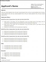 Free Of Resume Templates 16 Free Resume Templates Excel Pdf Formats