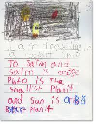 kindergarten writing sample 5 reading rockets