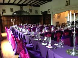 purple chair covers purple chair covers with hot pink sashes wedding ideas