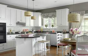 traditional style kitchens white kitchen with red accent wall