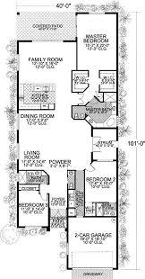 download long and narrow lot house plans adhome