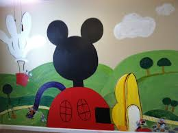 mickey mouse clubhouse playroom wall dms did me self projects