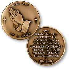 serenity prayer gifts bronze serenity prayer coin gifts of freedom na and aa gifts