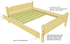 queen bed frame plans bed plans diy u0026 blueprints