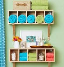 Small Bathroom Decor Ideas by Using Crates For Above The Toilet Bathroom Shelves Great Storage