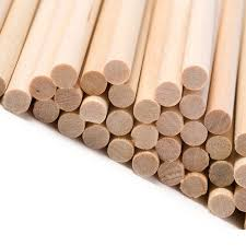 100pcs bare wood dowels unfinished wooden sticks thin wooden