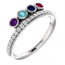 4 mothers ring birthstone rings for mothers custom birthstone rings
