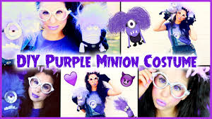 diy evil purple minion costume makeup u0026 hair halloween tutorial