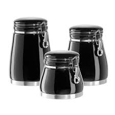 pleasing 50 kitchen canister sets black inspiration design of