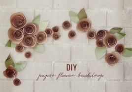 wedding backdrop diy diy paper flower backdrop green wedding shoes weddings