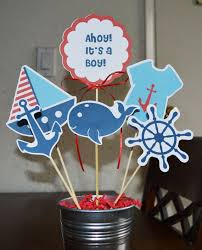 nautical theme baby shower nautical baby shower centerpiece ideas blue white whale anchor