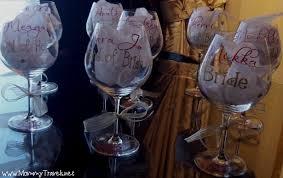 wine glass party favor bachelorette party favors travels